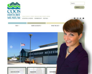 Maren Vernon and the new website she developed for CHM.