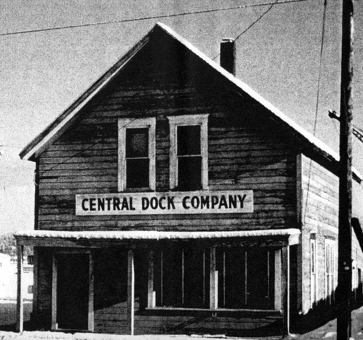 The original Central Dock office building. [Brunell family photo]