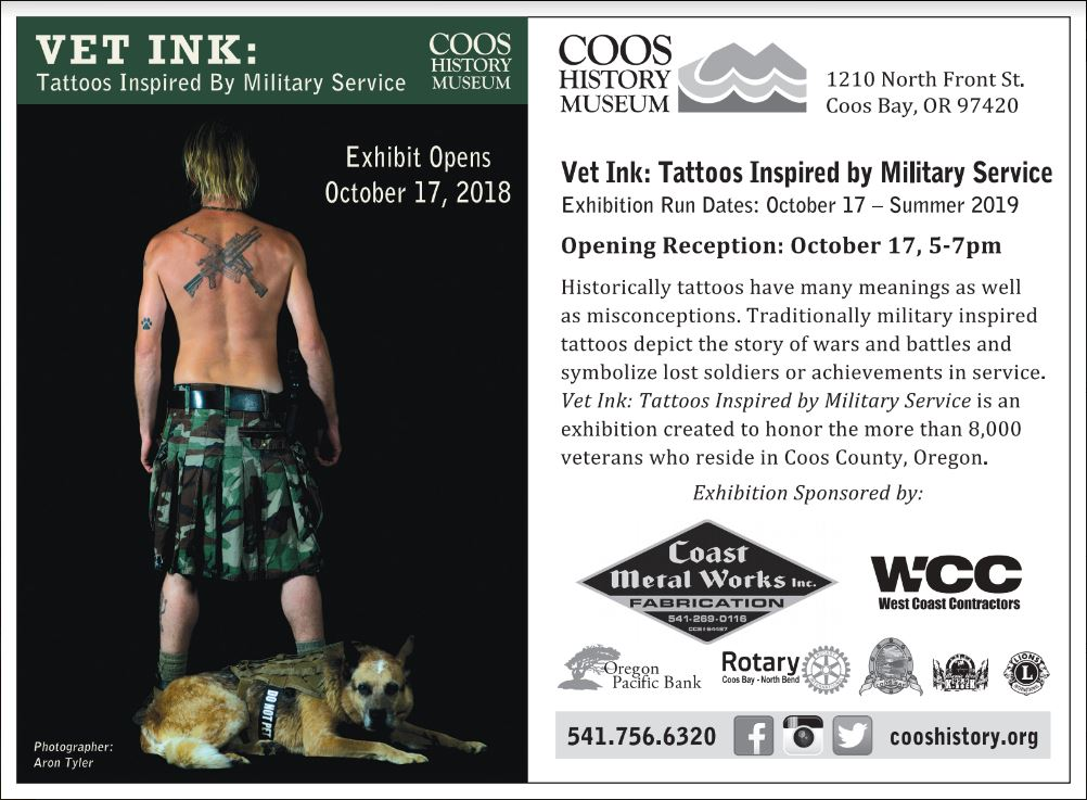 Vet Ink: Tattoos Inspired by Military Service – Coos History